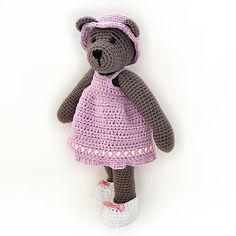 10 inch bear with outfit amigurumi crochet pattern by Tilda & Filur