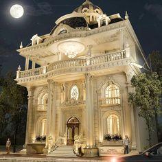 Mẫu biệt thự cổ điển sang trọng, lộng lẫy đầy kiêu hãnh Classic House Exterior, Classic House Design, Dream House Exterior, Dream Home Design, Villa Design, Facade Design, Exterior Design, Bungalow House Design, House Front Design