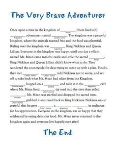 Mad Lib for Kids: Create Your Own Fairy Tale - FabKids Blog