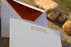 Tarjetas de agradecimiento con sobres forrados. www.silviagali.com
