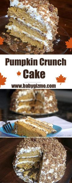 Pumpkin Crunch Cake is one of my favorite cakes of all time! #cake #dessert #pumpkin