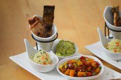 von kuechenereignisse.com  Lachs, Guacamole, Tomaten-Salsa