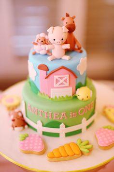 Pink Barnyard Birthday Party via Kara's Party Ideas | Party ideas, supplies, tutorials, recipes, games, favors and more! KarasPartyIdeas.com (17)