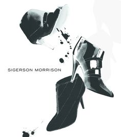 Fashion Illustration | by C Carlstedt | shoes Sigerson Morrison | sketch booties