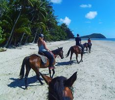 Live out your most romantic dreams and go horse riding along a beach.