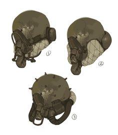 Prop Design, Robot Design, Armor Concept, Concept Art, Character Concept, Character Art, Cyberpunk Kunst, Apocalypse Art, Art Et Illustration