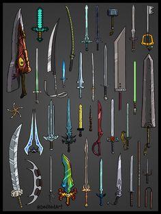 Fantasy Sword, Fantasy Weapons, Dark Fantasy, Final Fantasy, Fantasy Art, Ninja Weapons, Anime Weapons, Armes Concept, Types Of Swords