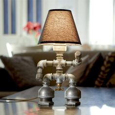 $499.00..Mimi is an iron pipe table lamp with a lamp shade to soften the lighting effect. Mimi is made from simple pipe fittings and could be a great DIY.