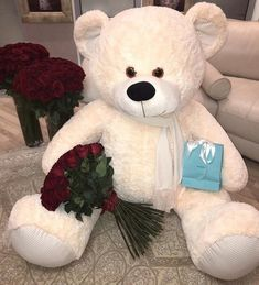 Find images and videos about love, cute and flowers on We Heart It - the app to get lost in what you love. Huge Teddy Bears, Giant Teddy Bear, Cute Relationship Goals, Cute Relationships, Teady Bear, Teddy Girl, Teddy Bear Gifts, Teddy Bear Pictures, Bear Girl