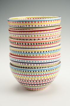 stripes and dots bowl