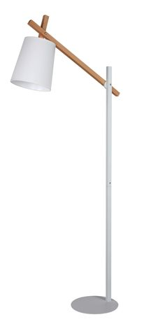 Un salon épuré et scandinave Lampadaire BLANC Blanc-hêtre - BUT