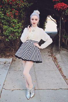 Kota Wade, SteamFaerie's Fall Lookbook : Skirt Forever 21+ Vintage, Jacket I.N.C, Blouse Top Option, Boots Y.R.U.