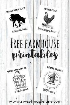Handmade home decor. free farmhouse printables from sweet maple lane! Modern Farmhouse Decor, Farmhouse Style Kitchen, Modern Farmhouse Kitchens, Farmhouse Signs, Rustic Farmhouse, Farmhouse Homes, Fresh Farmhouse, Farmhouse Ideas, Kitchen Redo