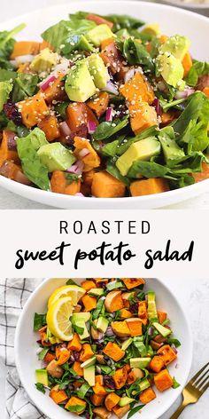 Salad With Sweet Potato, Sweet Potato Recipes, Sweet Potatoe Salad Recipe, Meals With Sweet Potatoes, Sweet Potato Dinner, Sweet Potato Toast, Healthy Summer Recipes, Healthy Salad Recipes, Healthy Snacks
