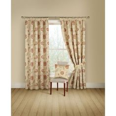 Poppy Trail Ready Made Curtains Red