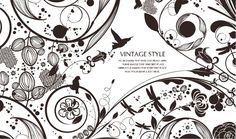 Vintage Style Floral Vector Background | Free Vector Graphics | All Free Web Resources for Designer - Web Design Hot!