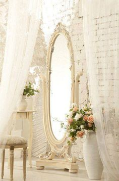 Shabby Chic/ Always wanted one of these Beautiful Mirrors!!!!!!!!!!!!!!!