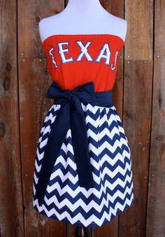 Texas Ranger Game Day Dress. Make it UGA instead