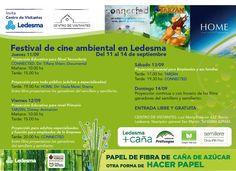 Festival de Cine Ambiental en Centro de Visitantes Ledesma.  La iniciativa es parte del programa oficial de la Fiesta Nacional de los Estudiantes con el objetivo de incorporar actividades culturales de excelencia en el interior de la provincia y desarrollar conciencia en el cuidado del Ambiente.