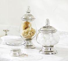 Evleen Mercury Gl Bath Accessories Potterybarn