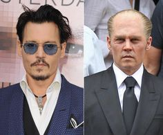 """Don't look now, Amber Heard! While #JohnnyDepp is 23 years his fiance's senior, this aged look must have come as a shock to his stunning blond beauty. The Hollywood actor was barely recognizable on the set of """"Black Mass,"""" donning a receding hairline while in character as Whitey Bulger in Boston on July 1, 2014. This isn't the first we've seen Depp on the set of his highly anticipated movie ..."""