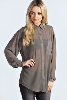 Be bold in a baggy button-up! The Molly Oversized Button Through Shirt - #ownit