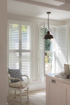 Full Height Interior Wooden Shutters In Kitchen | Making The Most Of Your  Windows | Luxaflex