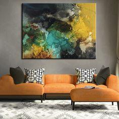 Abstracto moderno pinturas murales en casa fabricante decoración idea pintura al óleo La pintura de paisaje arte impresión en La lona No enmarcado