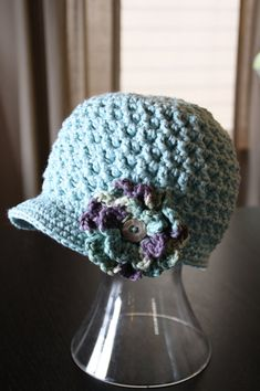 Another cute crochet hat! Newborn to Adult sizes $3.99 Etsy pattern #crochet