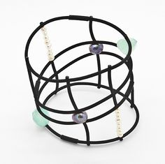 Contemporary stylish jewellery / Bracelet PRECIOUS GRID from Supermandolini Stylish Jewelry, Jewelry Bracelets, Jewellery, Online Boutiques, Football Helmets, Contemporary, My Style, Grid, Accessories
