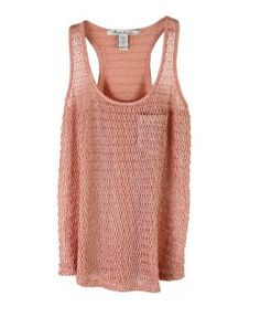Pink Pocket Knitted Tank Top
