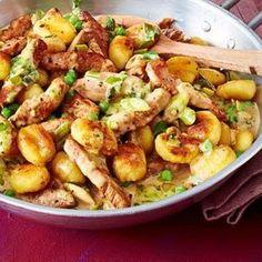 Gnocchipfanne mit Schnitzelstreifen Rezept