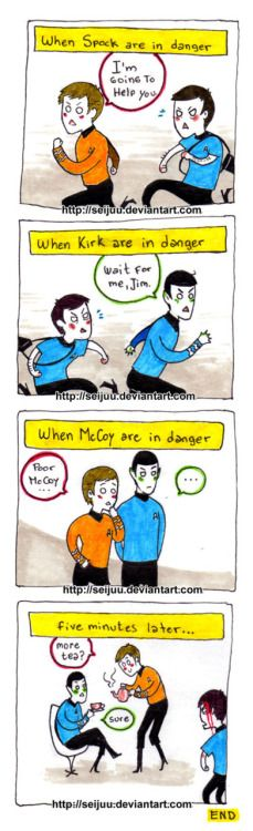 "star-trek: "" Star Trek - Friendship by ~Seijuu (deviantart.com) "" Poor Bones"