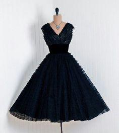 1950's black dress
