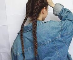 Imagen de girl, hair, and grunge Cute Hairstyles, Braided Hairstyles, Hairstyle Ideas, Hair Inspo, Hair Inspiration, Hipster Blog, Let Your Hair Down, Tumblr Outfits, How To Pose