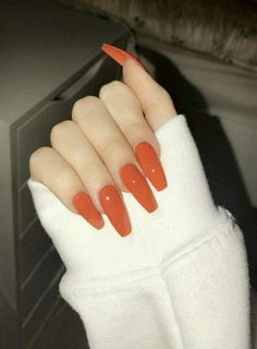 8 Amazing Pastel Nail Colors Acrylic Designs Only for you : Have a look! orange nails - Orange Things 8 Amazing Pastel Nail Colors Acrylic Designs Only For You : Have A Look! Trendy Nails, Cute Nails, My Nails, Glitter Nails, Nails On Fleek, How To Do Nails, Orange Nail Designs, Acrylic Nail Designs, Nail Polish