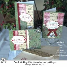 Printable Christmas Cards - digital download. Home for the Holidays, Gina Jane Designs - DAISIE Company