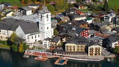"""Hotel-""""Weisses-Rössl am Wolfgangsee Austria, Places Ive Been, The Good Place, Mansions, Country, Nice, House Styles, Awesome, Hotels"""