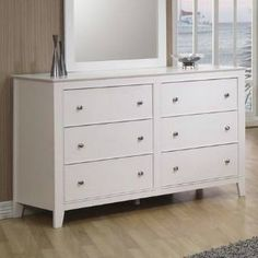 Check out the Coaster Furniture 400233 Selena 6 Drawers Dresser in White - 400233 priced at $502.80 at Homeclick.com.