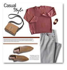"""Casual Style"" by adduncan ❤ liked on Polyvore featuring Lands' End, INC International Concepts, casual and oxblood"