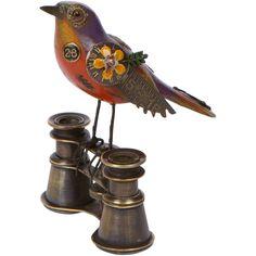 Orange & Purple Bird on Binoculars - Song Birds by Jim Mullan/Mullanium