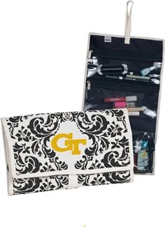 $24 A natural canvas exterior is accented with our Veranda print surrounding the Georgia Tech logo on this stylish and functional amenity kit. Alone or as a companion to our beautiful City Tote, this item is the perfect gift for your college student.