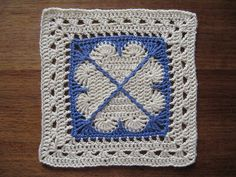 CAL February block - 12 inches lemon by thornberry, via Flickr ~ free pattern