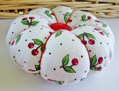Cherry Pincushion Handmade Pin Cushion by purelysimpledesigns, $8.95