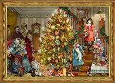 Victorian Christmas .@@@@@.....http://www.pinterest.com/jennifergbrock/vintage-christmas-images-art-illustration-that-evo/