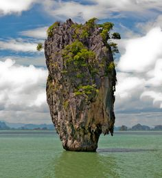 """An iconic island where """"Man with a golden gun"""" was filmed. Some more island shots from the same trip: James Bond Island, Thailand. James Bond Island Thailand, Ao Phang Nga National Park, Natural Structures, James Bond Movies, Phuket, Deviantart, Nature, Outdoor, Architecture"""
