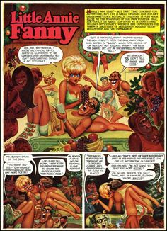 Harvey Kurtzman and Will Elder made every panel of Little Annie Fanny an illustration.