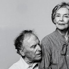 """Jean-Louis Trintignant and Emanuelle Riva in the Haneke's film """"Amour"""" - photo by Philippe Quaisse -"""