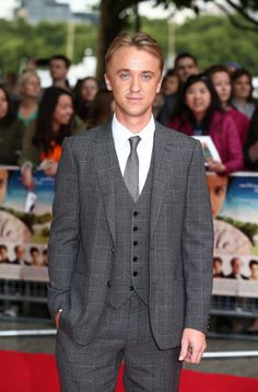 Beautiful in the grey suit