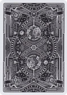Designed in the United Kingdom by Joe White, Contraband Playing Cards were inspired by secret societies, conspiracy theories, and everything unknown. The tuck case, and the cards within, are all made